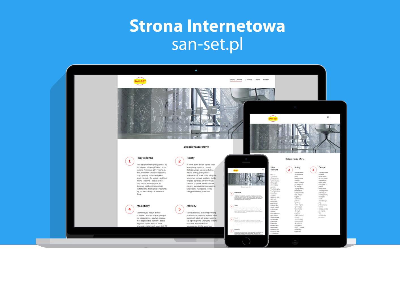 Strona internetowa Firmy oferującej osłony okienne