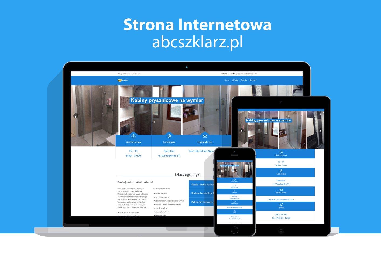 Strona internetowa zakładu szklarskiego